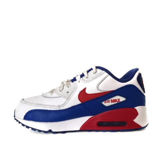 Kids Nike Air Max 90 LTR University Red Blue 2.5Y